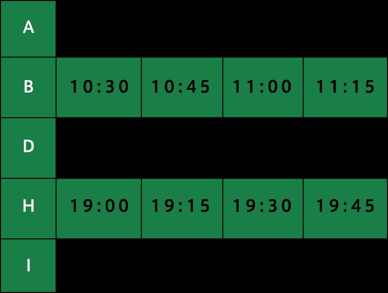 レッスン時間表